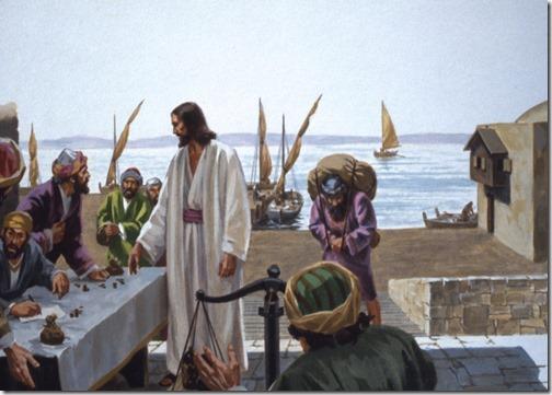 *Прочтите в 5 главе Евангелия от Луки о том, как увидел Сын Человеческий мытаря, именем Левия, сидящего у сбора пошлин, и говорит ему: следуй за Мною. И он, оставив всё, встал и последовал за Ним...