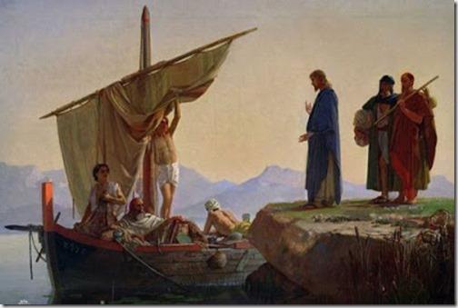 *Прочтите в 4 главе Евангелия от Матфея, как, проходя... близ моря Галилейского, Сын Человеческий увидел двух братьев: Симона, называемого Петром, и Андрея, брата его, закидывающих сети в море, ибо они были рыболовы, и говорит им: Идите за Мною, и Я сделаю вас ловцами человеков. И они тотчас, оставив сети, последовали за Ним...
