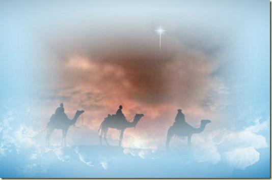 Волхвы с востока шли за Звездою поклониться родившемуся Царю Иудейскому. И вот, Звезда, которую видели они на востоке, шла перед ними, как наконец пришла и остановилась над местом, где был Младенец...