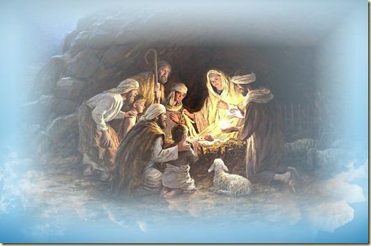 Когда Ангелы отошли от пастухов на Небо, пастухи, поспешив, пришли и нашли Младенца, лежащего в яслях...