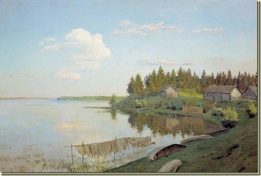Картина На озере (Тверская губерния)...