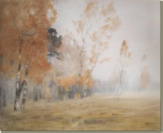 Картина Туман. Осень...