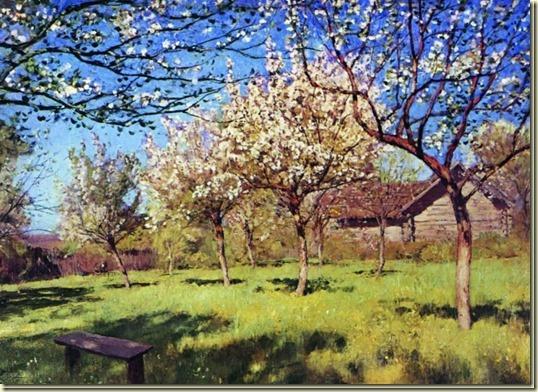 Картина Цветущие яблони...