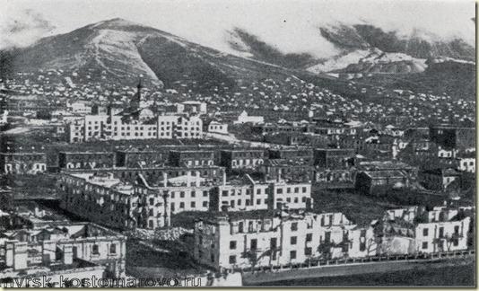 На этом снимке показано как выглядел город Новороссийск после войны...Кадры хроники...