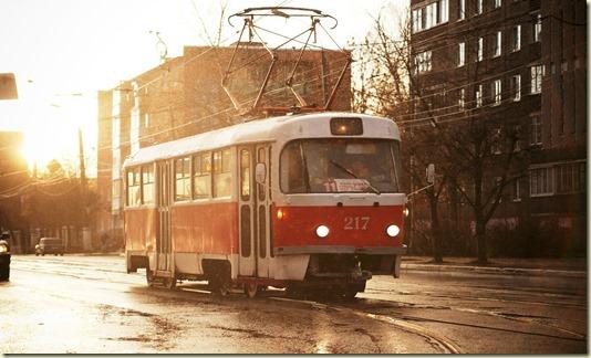 На этой картинке запечатлён Тверской трамвай - раритет... на фото и в нашей памяти...