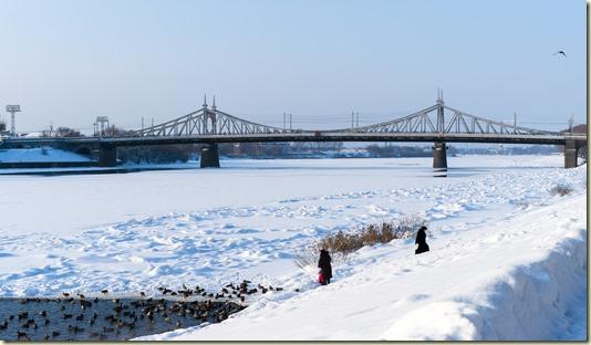 На этом фото заснят редкий для Тверской зимы солнечный день... Но, увы, нередкие снег и мороз...