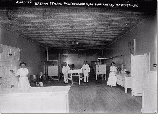 На этом фото - Вашингтонская Лаборатория Натана Штрауса для Исследования и Пастеризации Молока...