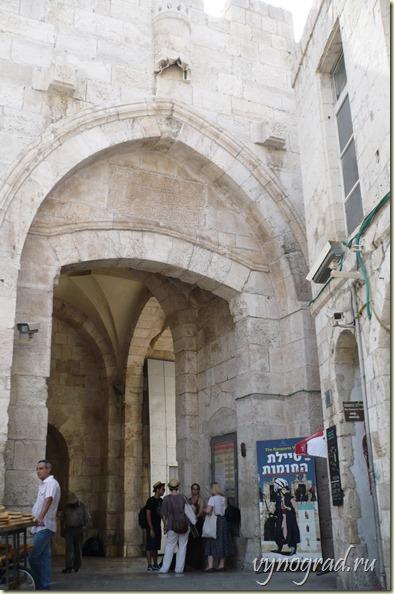 На этом фото - Яффские Ворота Старого Города Иерусалима...