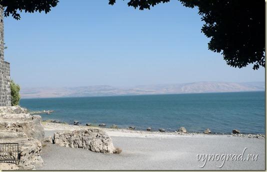 Ссылка этой фотографии Моря Галилейского открывает Очерк *Галилея Христианская* из цикла *Путешествие по Израилю...