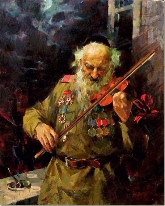 Ссылка Картины *9 Мая* художника Германа Гольда открывает стихотворение *Защищавший Россию еврей...* Автор - Виктория VK...