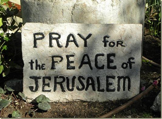 Ссылка этого фото открывает Авторский Очерк *Святый Град Иерусалим* из цикла *Путешествие по Израилю... На фотографии Призыв Молиться о Мире для Иерусалима!