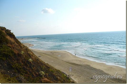 На фото - высокий прибрежный утёс, на котором стоит город Нетания, а также чистый песчаный пляж 14 километров длиной. Ссылка -Напоминание...